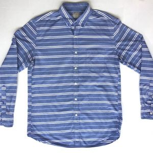 J Crew Long Sleeve Shirt/Blue and White strips/L
